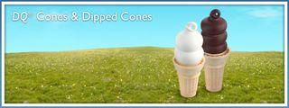 Dipped cones